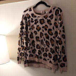 H&M Leopard Print Sweater
